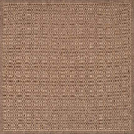 Recife Saddle Stitch Brown Outdoor Rugs-Rug Shop and More
