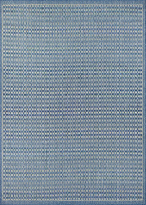 Recife Saddle Stitch Blue Outdoor Rug-Rug Shop and More