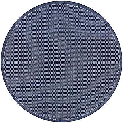 Recife Saddle Stitch Indigo Round Outdoor Rugs-Rug Shop and More