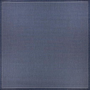 Recife Saddle Stitch Indigo Square Outdoor Rugs-Rug Shop and More