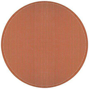 Recife Saddle Stitch Orange Outdoor Rug-Rug Shop and More