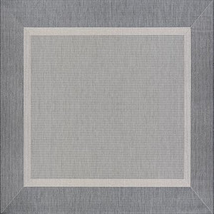 Recife Stria Texture Grey Square Outdoor Rugs-Rug Shop and More