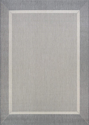 Recife Stria Texture Grey Outdoor Rugs-Rug Shop and More