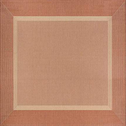 Recife Stria Texture Orange Square Outdoor Rugs-Rug Shop and More