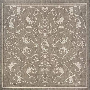 Recife Veranda Taupe Square Outdoor Rugs-Rug Shop and More