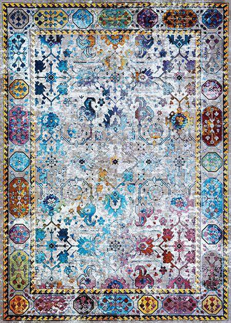 Gypsy Retro Damsel Transitional Area Rug-Area Rugs-Rug Shop and More