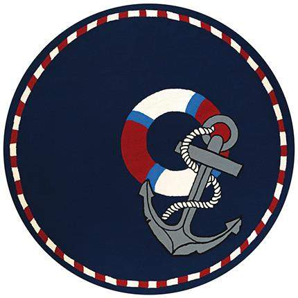 Outdoor Escape Anchors Away Round Beach Rug-Rug Shop and More