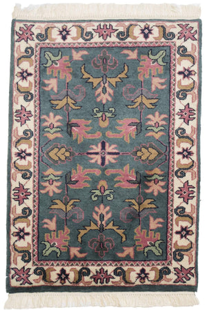 Serapi Handknotted Geometric Small Wool Rug