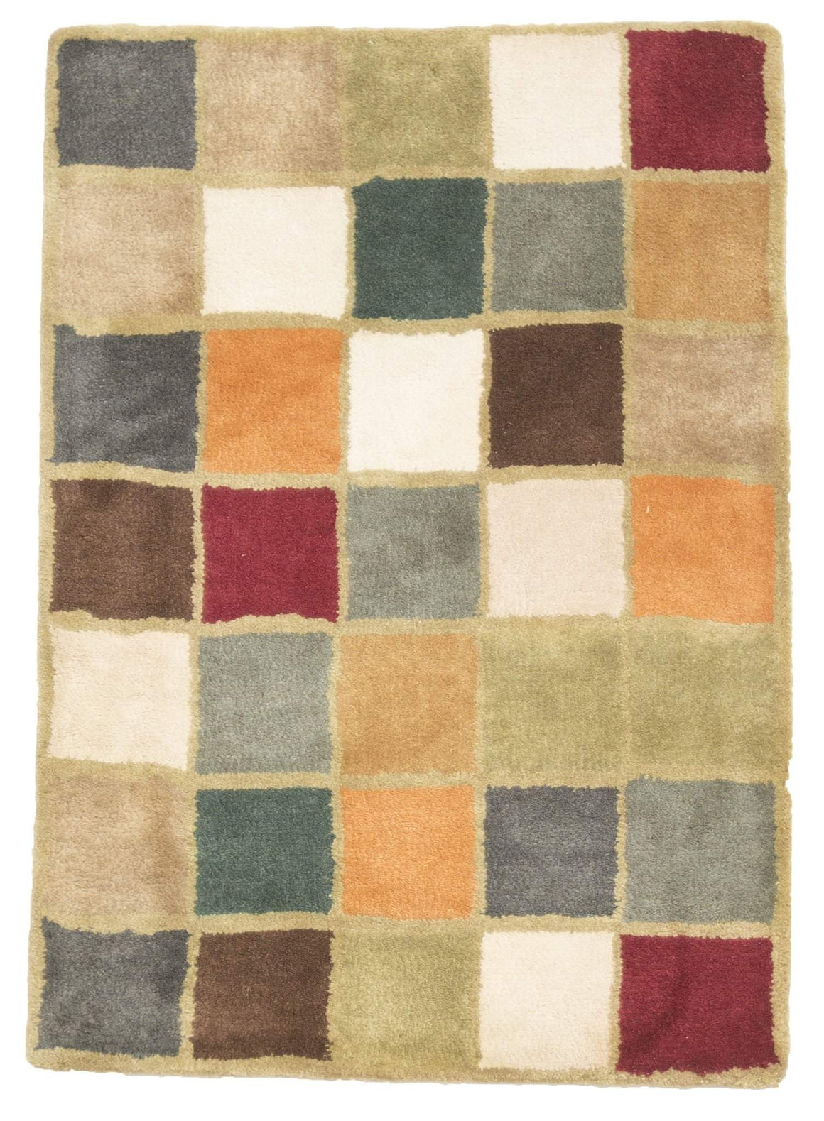 2' x 3' Modern Multi Color Wool Small Rug by Rug Shop and More Area Rugs - Rug Shop and More