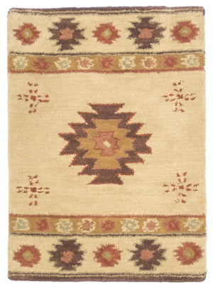 2' x 3' Southwest Design Wool Small Rug-Area Rugs-Rug Shop and More