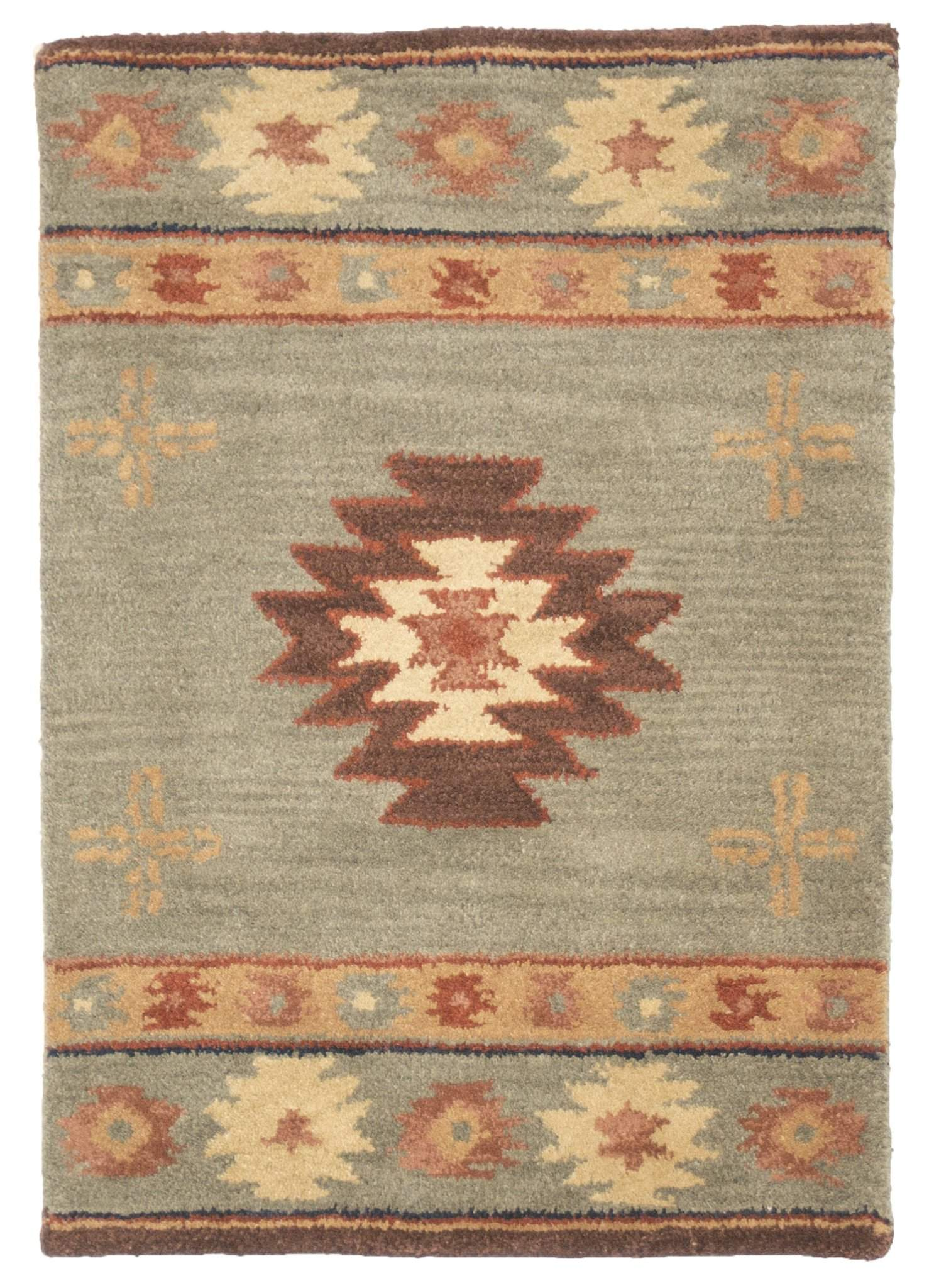 2' x 3' Southwestern Wool Small Rug-Area Rugs-Rug Shop and More