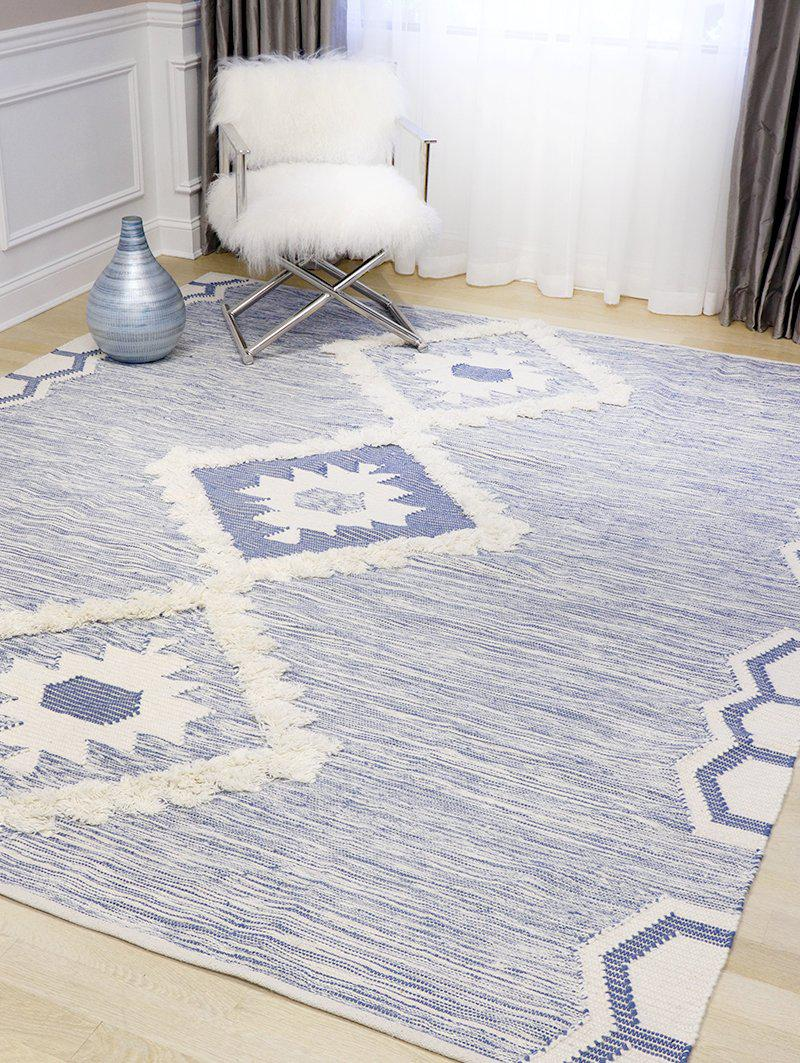 Santa Fe Blue Modern Cotton Rugs-Area Rugs-Rug Shop and More