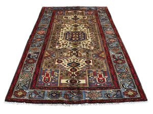 5' x 7' Hamadan Hand-Knotted Wool Oriental Rug-Rug Shop and More
