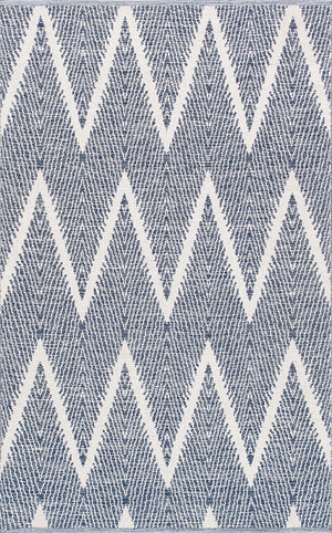 Simplicity Navy Modern Cotton Rugs