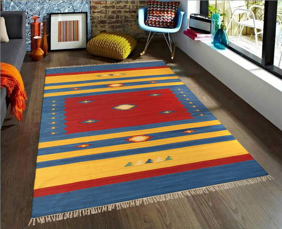 Transitional Handmade Cotton Area Rugs