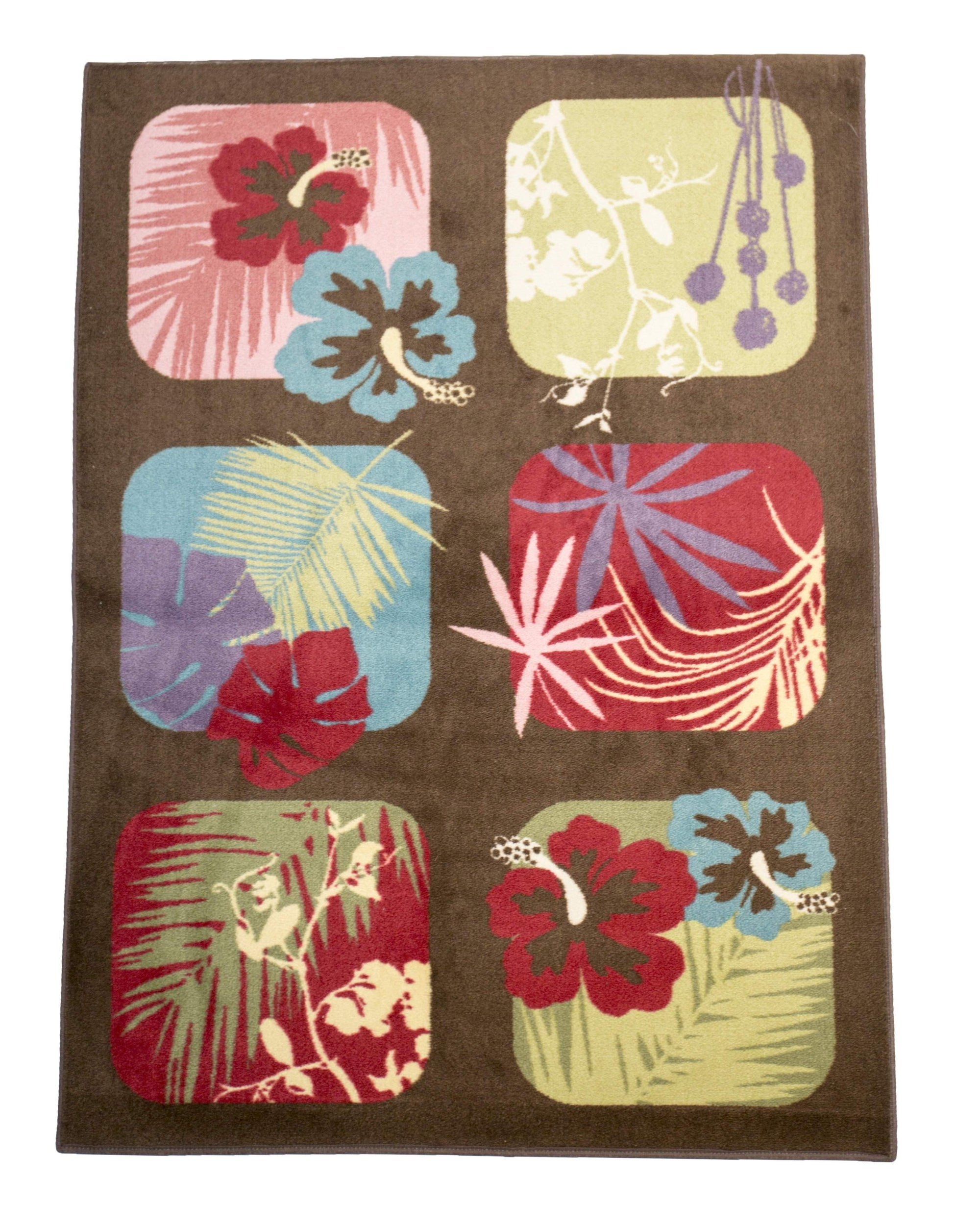 Tropical Flower Casual Area Rug-Rug Shop and More