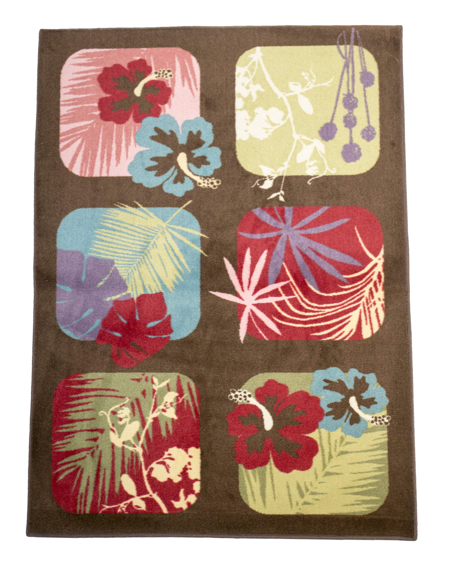 Tropical Flower Casual Area Rug-Area Rugs-Rug Shop and More