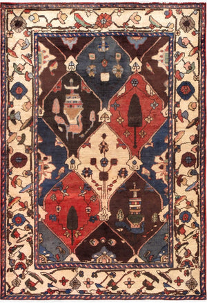 Vintage Bakhshayesh Allover Wool Area Rugs-Rug Shop and More