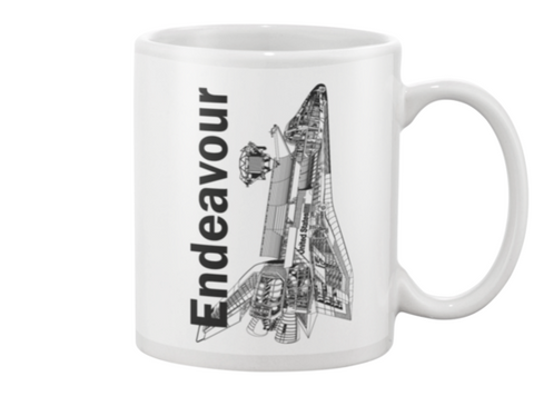 Endeavour Space Shuttle Coffee Mug - Shuttlewear, Endeavour Space Shuttle Coffee Mug
