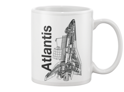 Atlantis Space Shuttle Coffee Mug - Shuttlewear, Atlantis Space Shuttle Coffee Mug