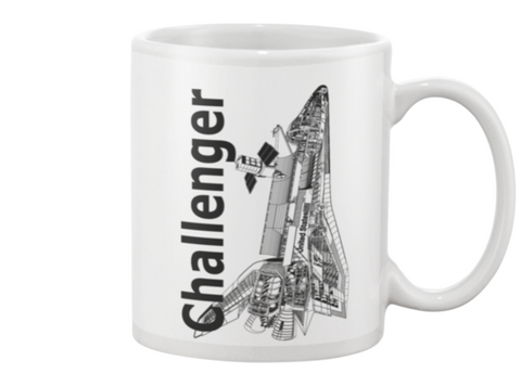 Challenger Space Shuttle Coffee Mug - Shuttlewear, Challenger Space Shuttle Coffee Mug