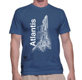Atlantis Shuttle T-Shirt - Shuttlewear, Atlantis Shuttle T-Shirt