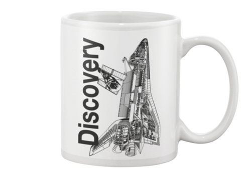 Discovery Space Shuttle Coffee Mug - Shuttlewear, Discovery Space Shuttle Coffee Mug