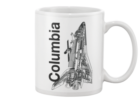 Columbia Space Shuttle Coffee Mug - Shuttlewear, Columbia Space Shuttle Coffee Mug