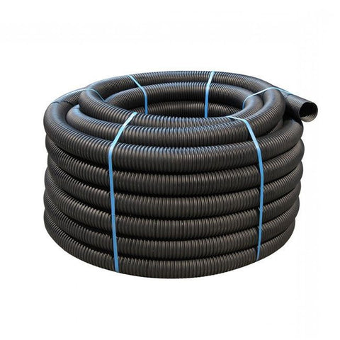 160mm Black Perforated Land Drain