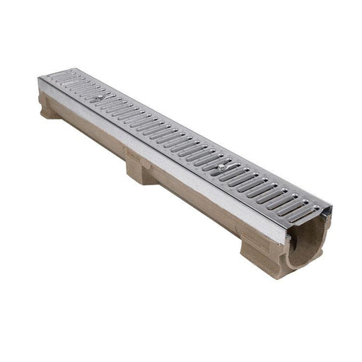 Polymer Concrete Channel 118mm wide x 60mm invert c/w A15 Galv Grate