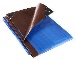 185 GSM Tarpaulin Brown/Blue (Various Sizes)