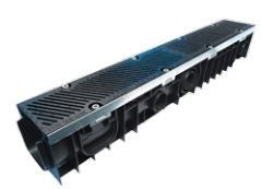 Polypropylene Channel Ductile Iron Safeslot Grates - C250 Loading - Steel Edge