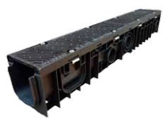 Polypropylene Channel Ductile Iron Safeslot Grates - C250 Loading - Polypropylene Edge