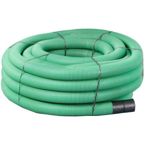 50mtr Green Twinwall Duct c/w draw cord (Various Sizes)