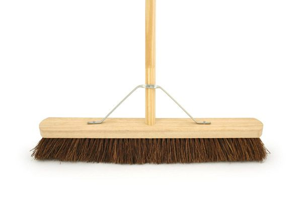 "24"" Stiff Bassine Platform Broom c/w Handle & Stay"