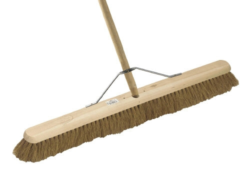 "36"" Soft Coco Platform Broom c/w 4'6"" Handle & Stay"