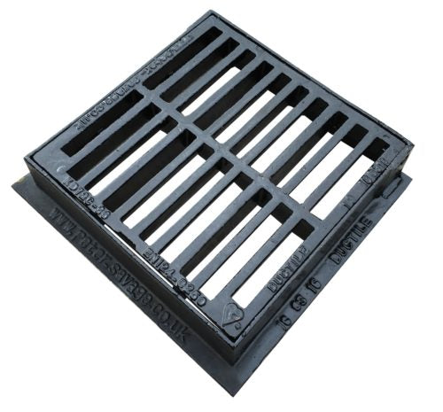300 x 300 x 75mm B125 Hinged Flat Top Grating & Frame