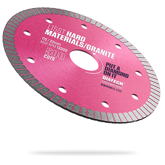 L15ST Hard Materials Diamond Blade - 500 Cuts