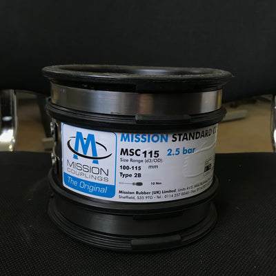 MSC 115 Standard Flexible Coupling 100mm to 115mm