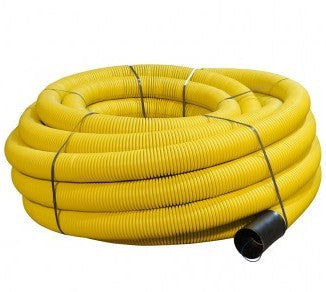 100mm x 50mtr Yellow Perforated Gas Duct