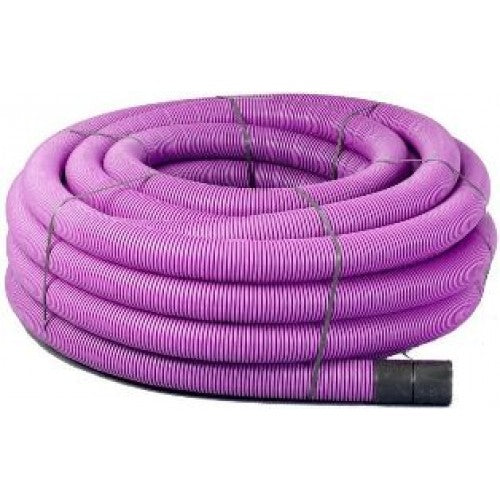 50mtr Purple Twinwall Duct c/w draw cord (Various Sizes)