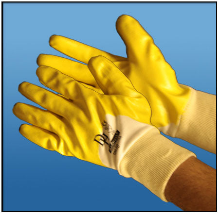 Premium Yellow Nitrile Gloves