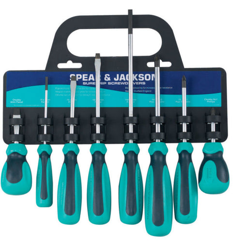 8 Peice Soft Feel Screwdriver Set
