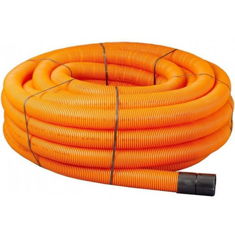 50mtr Orange Twinwall Duct c/w draw cord (Various Sizes)