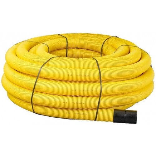 50mtr Yellow Twinwall Duct c/w draw cord (Various Sizes)