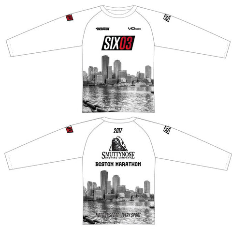 "2017 Boston Marathon ""White Out"" Long Sleeve"