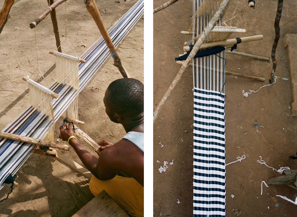 Carrying Colour weaving in sierra leone
