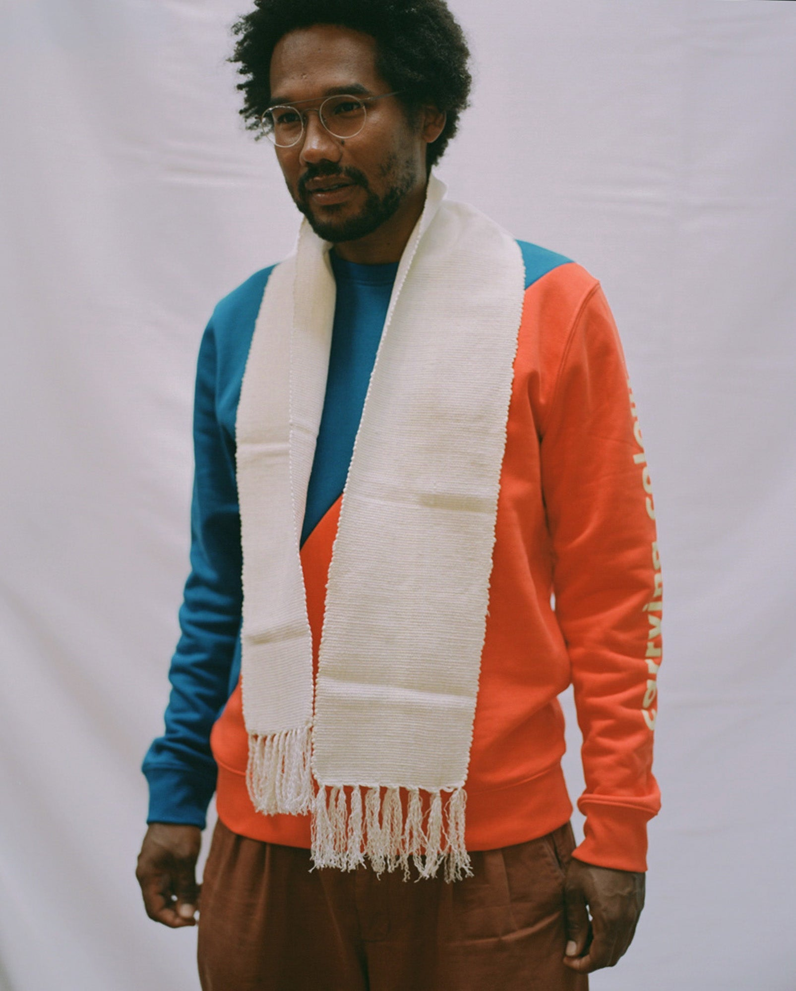 Woven Scarf - Natural (Cotton)