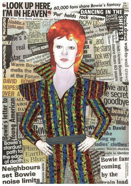 NEW PRINT - 'David Bowie as Ziggy Stardust'