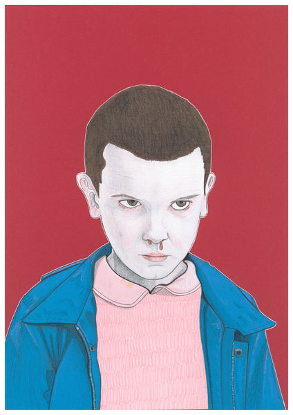 'Eleven from Stranger Things' print